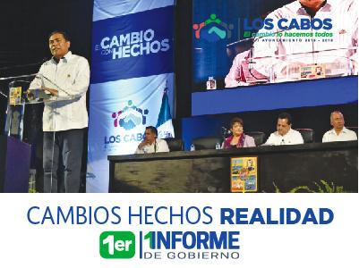 Versión Estenográfica del Discurso del Presidente Municipal de Los Cabos en su Primer Informe de Gobierno
