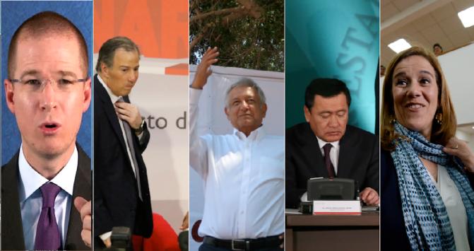 Promotores: Meade, Osorio, Anaya, AMLO.