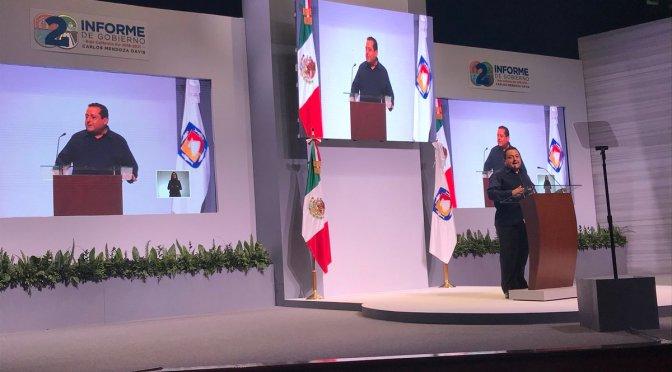 Gobernador Carlos Mendoza Davis Segundo Informe de Gobierno