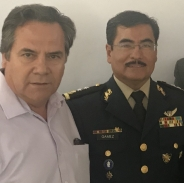 Dip. Ramiro Tuiz y el Comandante de la Tercera Zona Militar