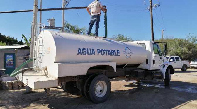 Diariamente se benefician alrededor de 470 familias de Cabo San Lucas con suministro de agua en pipas