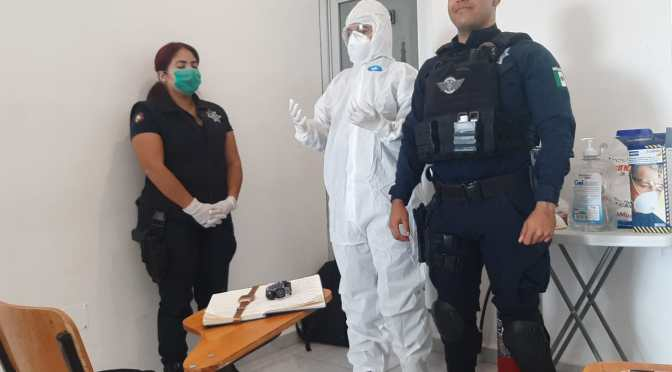 Policía Estatal de BCS se capacita en temas de Bioseguridad ante COVID-19
