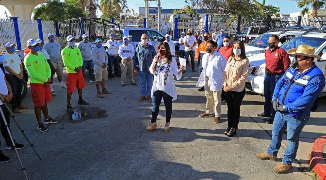 Encabeza alcaldesa Armida Castro la sanitización de unidades y oficinas del Ayuntamiento de Los Cabos