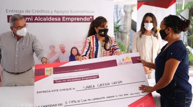 """Gobierno de Los Cabos otorgará $4 MDP en apoyos, a través del programa """"Con mi Alcaldesa Emprendo"""""""