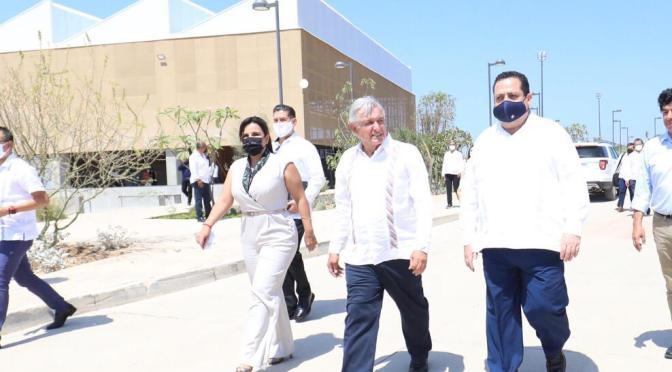REAFIRMA PRESIDENTE DE MÉXICO COMPROMISO DE CONSTRUIR PLANTAS DESALADORA Y DE ENERGÍA EN BCS