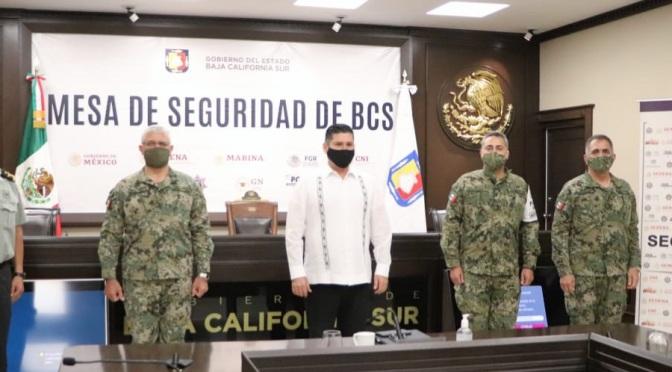 MESA DE SEGURIDAD REFUERZA OPERATIVIDAD EN BCS: ÁLVARO DE LA PEÑA
