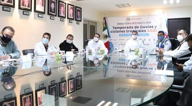 """CONSEJO ESTATAL DE PROTECCIÓN CIVIL DA SEGUIMIENTO A """"GENEVIEVE"""": ÁLVARO DE LA PEÑA"""