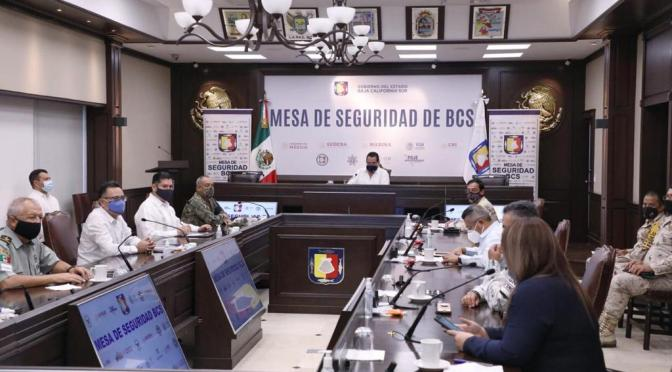 MESA DE SEGURIDAD COADYUVARÁ CON COMITÉ ESTATAL DE SEGURIDAD EN SALUD PARA EVITAR CONGLOMERACIONES