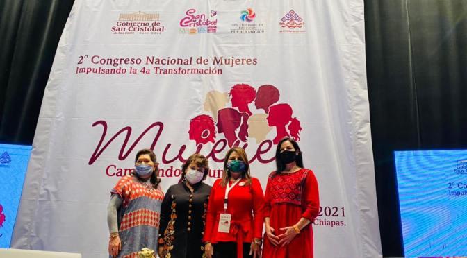 En la 4T la lucha de las mujeres avanza; asiste alcaldesa Armida Castro al 2º Congreso Nacional de Mujeres Impulsando la 4T