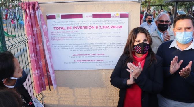 Con una inversión superior a los $2.3 MDP, entrega alcaldesa Armida Castro rehabilitación del parque en Lagunitas CSL