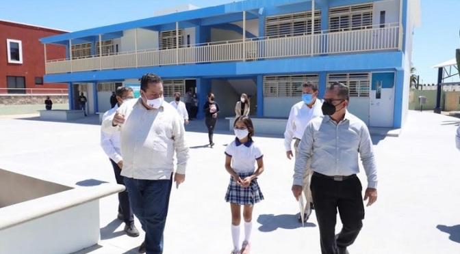 Las nuevas aulas de primaria en colonia Perlas del Golfo
