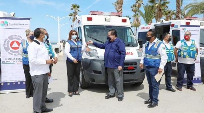 ¡Tres ambulancias nuevas para PROTECCIÓN CIVIL!