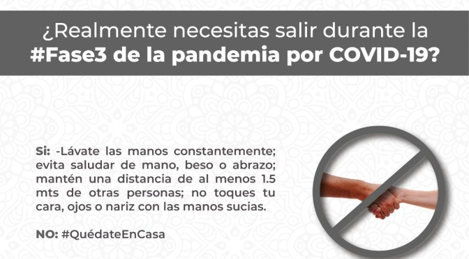 El Gobierno de Los Cabos te recuerda cómo evitar la propagación del COVID-19
