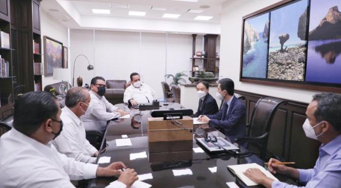Analiza Gobernador con directivos asunto de Mina El Boleo