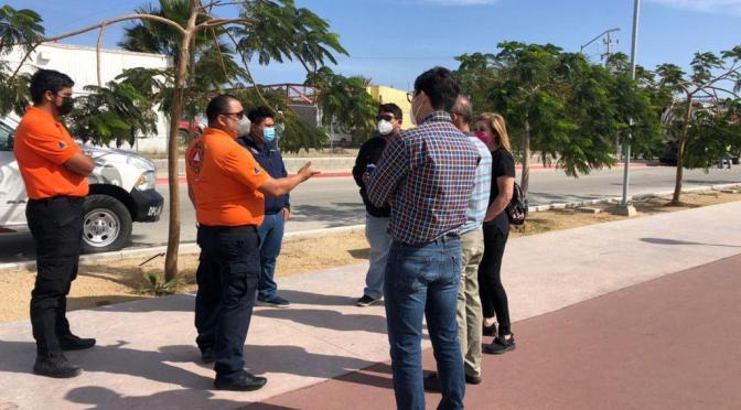 Protección Civil continúa la revisión de protocolos de seguridad y salud en negocios de Los Cabos