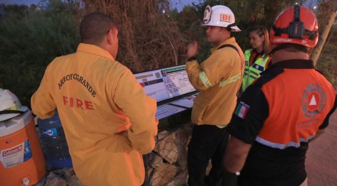 Se registra segundo incendio en Estero de San José del Cabo; 800 mil litros de agua fueron necesarios para sofocar los siniestros