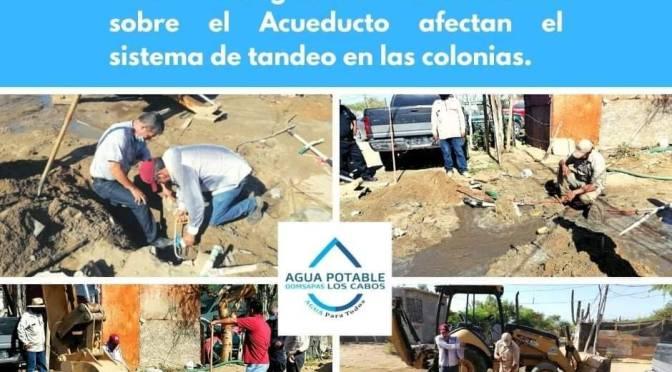 Vándalos afectan el acueducto a Cabo San Lucas